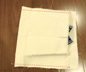 Sew up sides of canvas